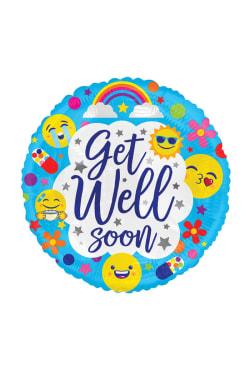 Get Well Soon - Emoji Blue - Standard