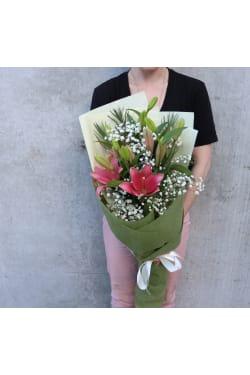 Lilies and Gypsophlia - Standard