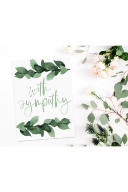 With Sympathy Gift Card - Standard