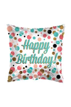 Happy Birthday Square Dots - Standard