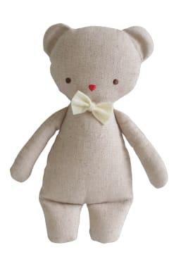 Linen Bear Rattle - Standard