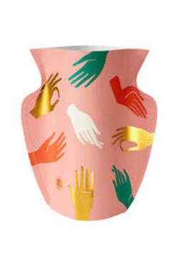Paper Vase Hamsa Pink - Standard
