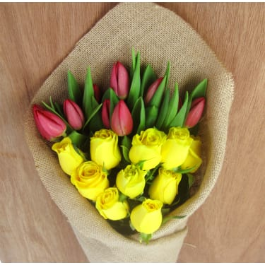 Roses and Tulips Subscription - Standard