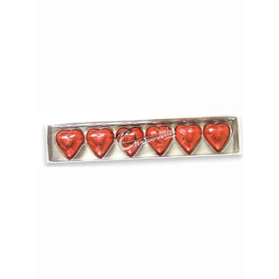 6 Pack Red Hearts - Standard