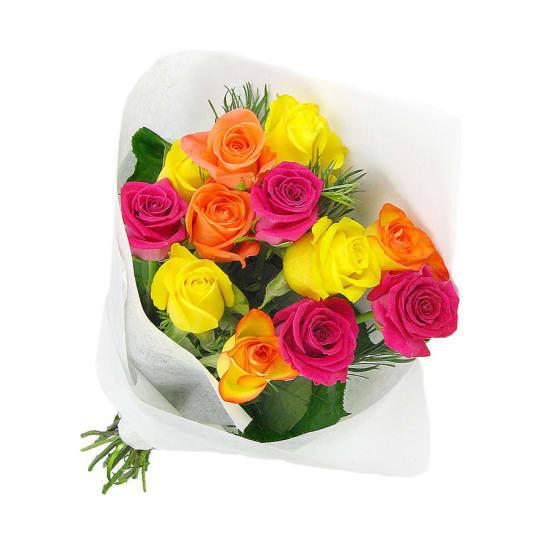 Valentine's 12 Just Roses - 12 Roses (One Dozen)
