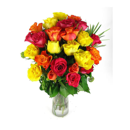 Valentine's 24 mixed roses - 24 Roses (Two Dozen)