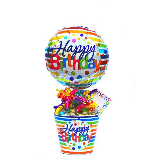 Happy Birthday Lolly Pot - Standard
