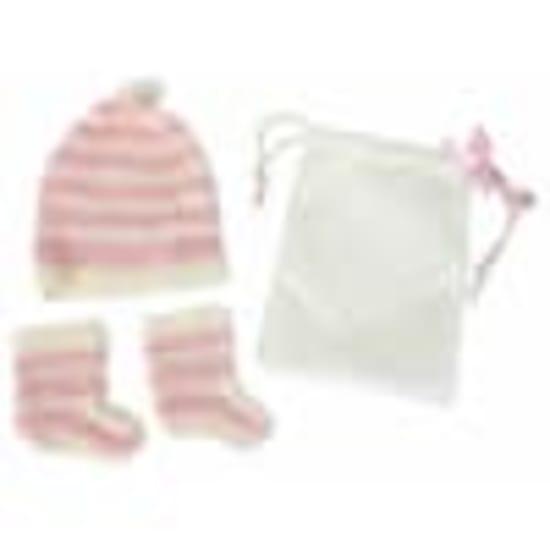 Beanie & Booties - Pink - Standard