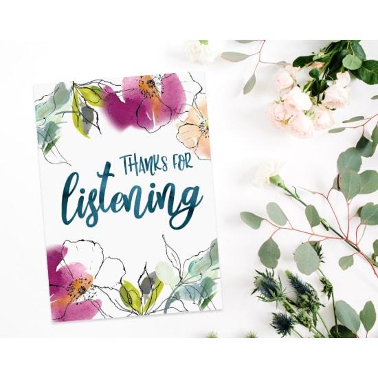 Thanks For Listening - Standard