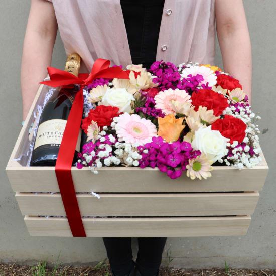 Moet Flower Crate - Standard
