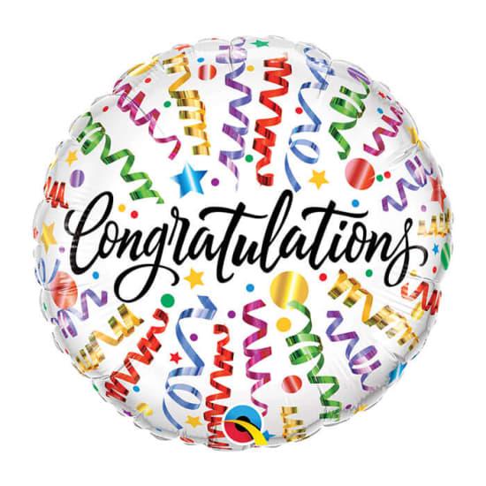 Congratulations Streamers - Standard