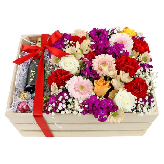 Mini Moet Flower Crate - Standard