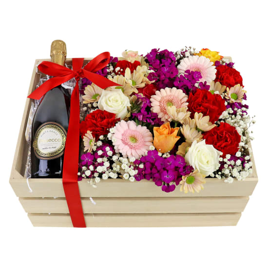 Prosecco Flower Crate - Standard