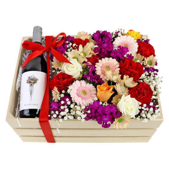 Wildflower Shiraz Flower Crate - Standard
