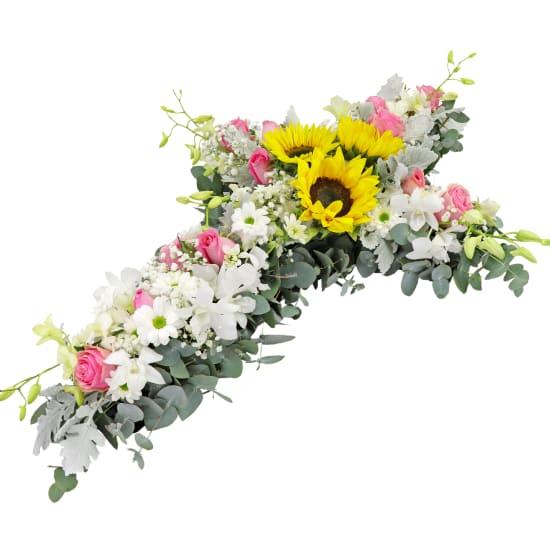 Healing Prayer Flower Cross - Standard