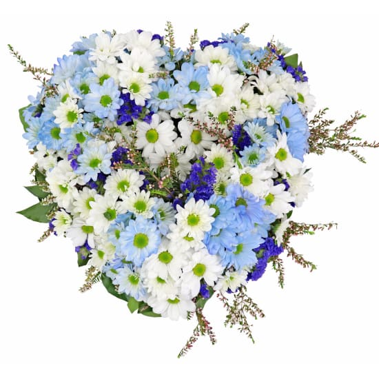 Small Heart - Blue and White - Standard