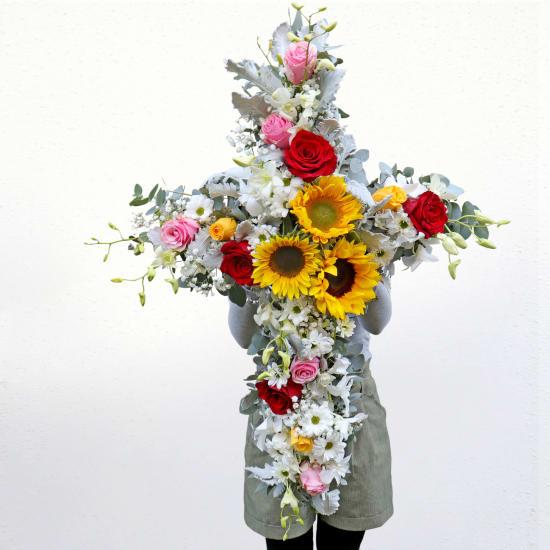 Memories Flower Cross - Standard