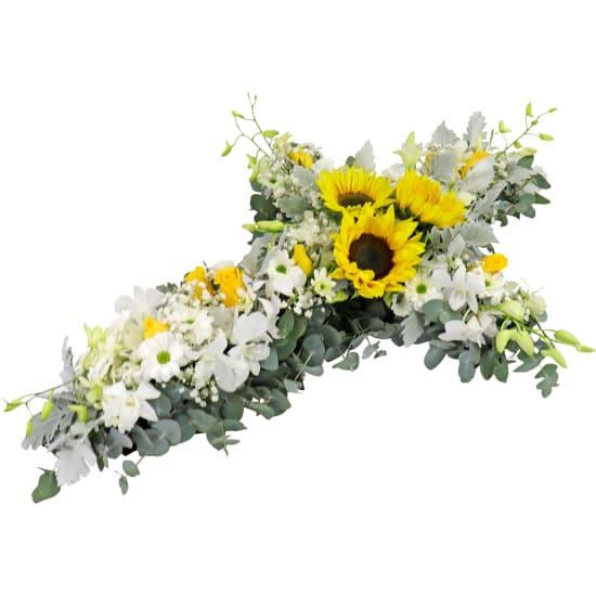 Ray Of Sunshine Flower Cross - Standard