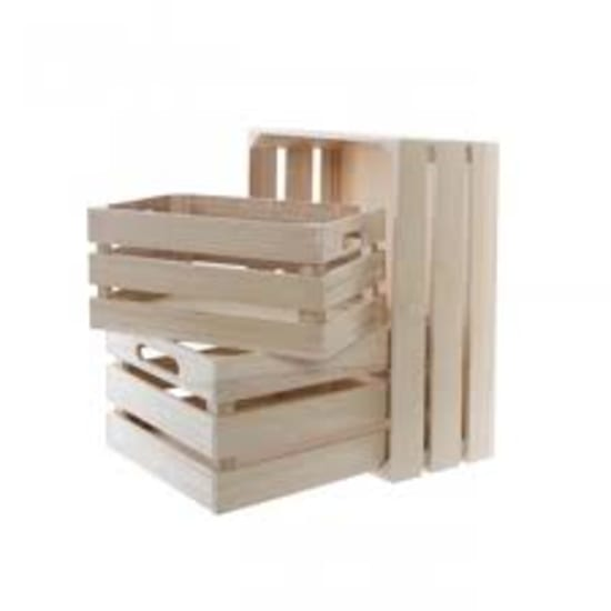 Wooden Crate Med - 35x25x16  - Standard