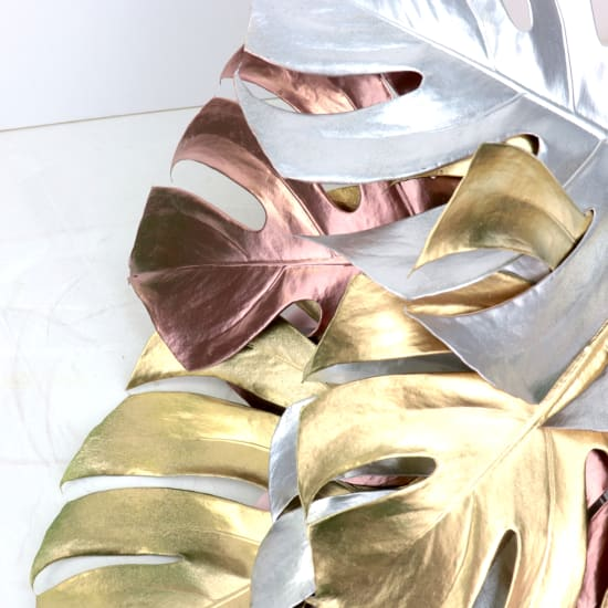 Metallic Monstera Leaves - Standard