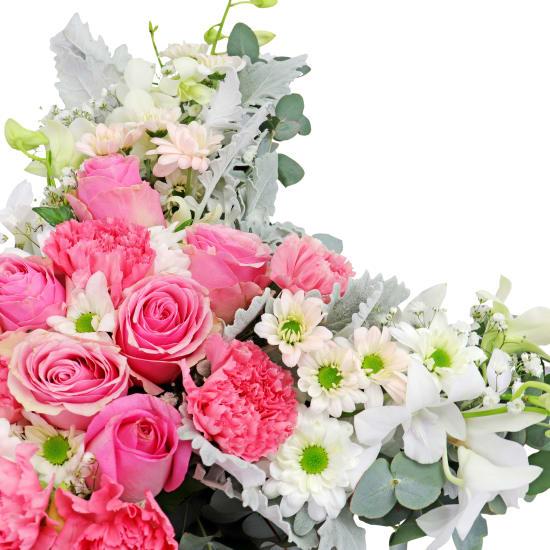 Hearts May Heal Flower Cross - Standard