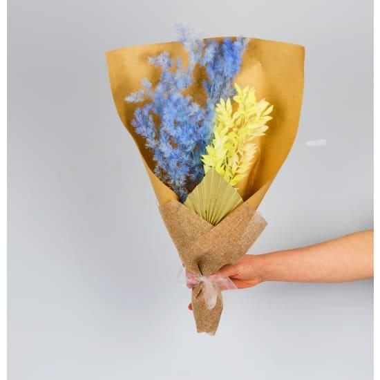 Blue Ivory Dried Bouquet - Standard