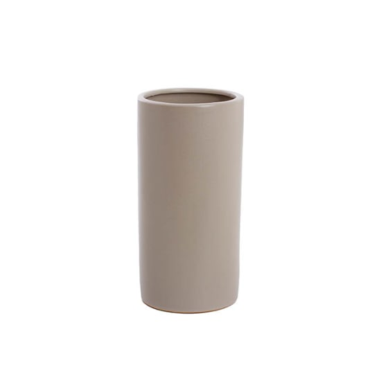 Matte Light Grey Ceramic Vase - Standard