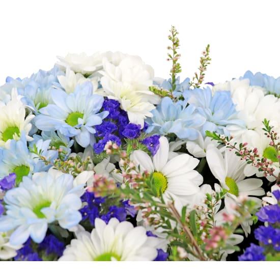 Blue Spirit Heart Wreath - Standard