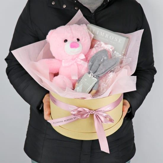 Hello Baby Hatbox - Pink  - Standard