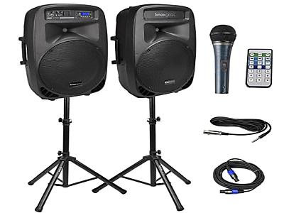 "Speakers (Dual 15"" speakers with Bluetooth)"
