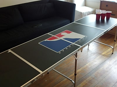 Portable Beer Pong Beirut Game Table - 8 Feet Long