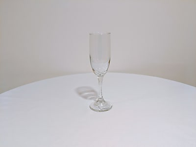 Tapered Glass Champagne Flutes, 6.25 oz.