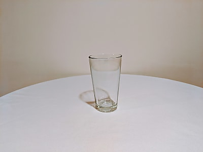 Thick-Bottom Clear Glass Coolers, 18 oz.