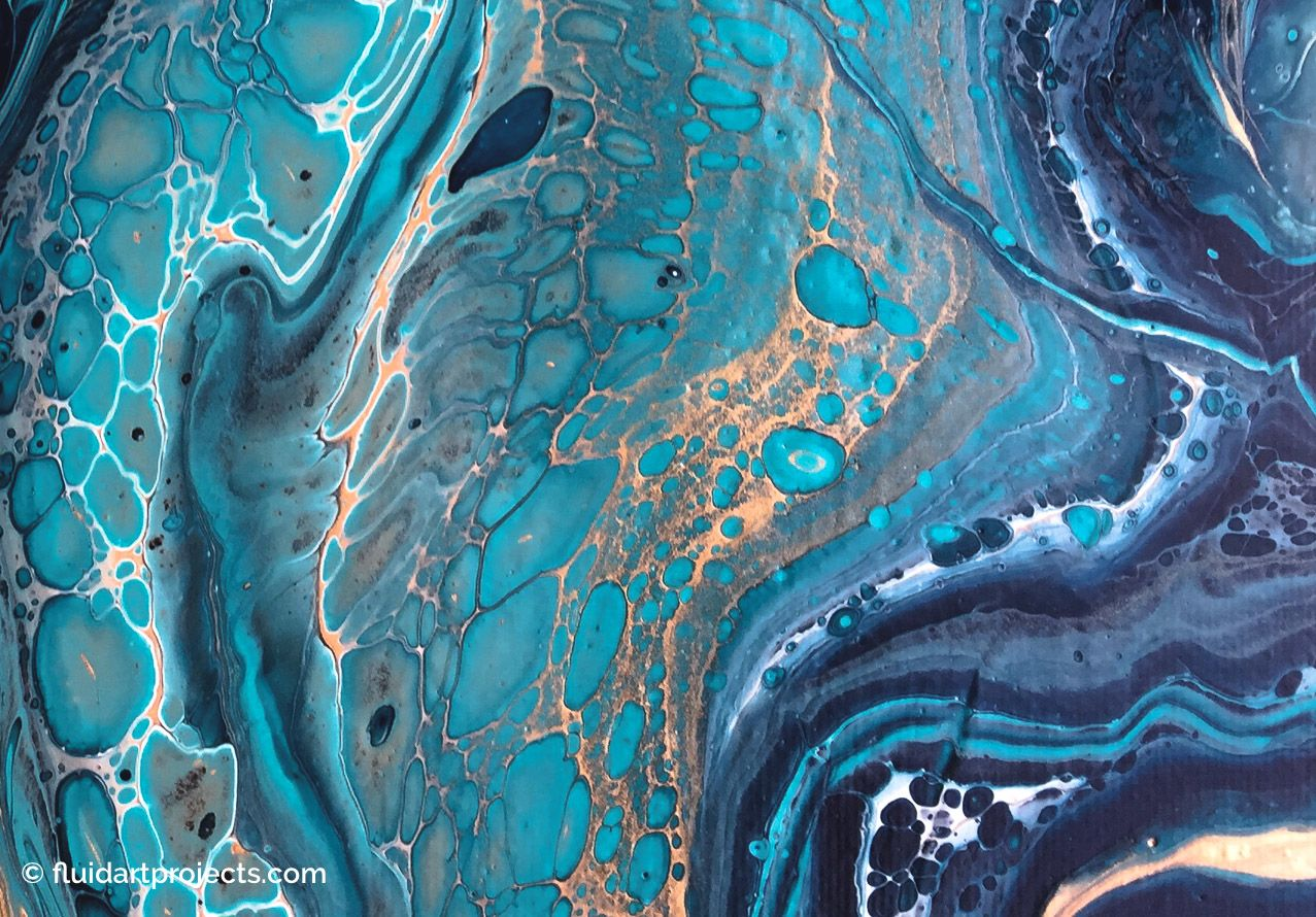 How to create cells in your acrylic pouring painting ...