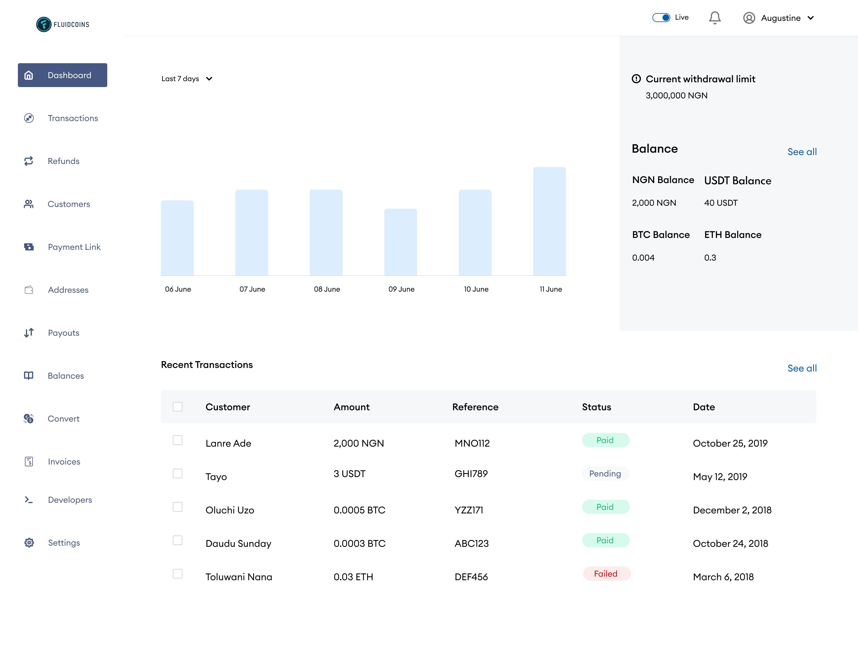 merchant dashboard