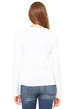 Bella + Canvas 6500 Ladies Long Sleeve Jersey T-Shirt with Tear Away Label