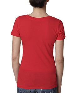 Next Level 3540 Ladies' Deep V-Neck Soft Wash T-Shirt