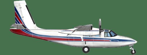 Side profile of Aero Commander 500B 500 aircraft