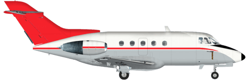 Side profile of Beechcraft 125 125 aircraft