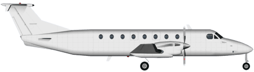 Side profile of Beechcraft 1900 Beechcraft 1900 aircraft