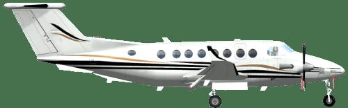 Side profile of Beechcraft B300 King Air 300 aircraft