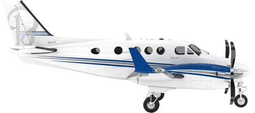 Side profile of Beechcraft C90 King Air C90 aircraft