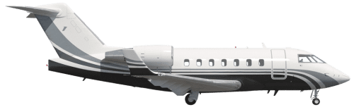 Side profile of Bombardier 600 Challenger 600 aircraft