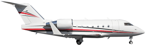 Side profile of Bombardier 601 Challenger 601 aircraft