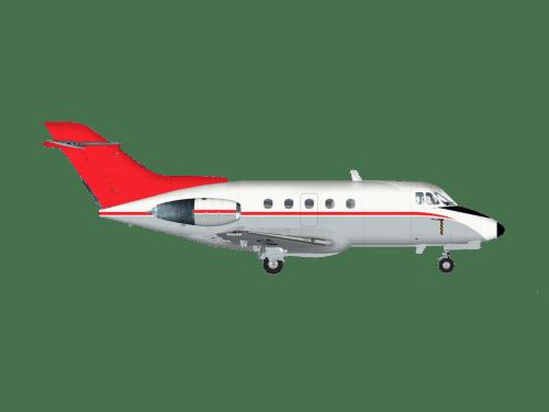 Side profile of Hawker 1000 Hawker 1000 aircraft