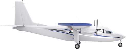 Side profile of Britten-Norman 2 BN-2 Islander aircraft
