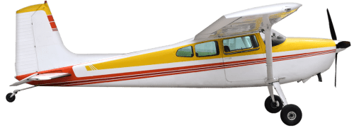 Side profile of Cessna 185 Skywagon aircraft