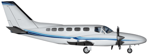 Side profile of Cessna 441 Conquest II aircraft