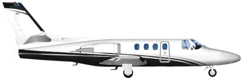 Side profile of Cessna 501 Citation I aircraft