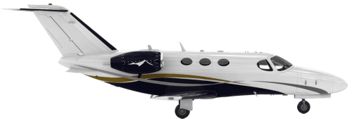 Side profile of Cessna 510 Citation Mustang aircraft